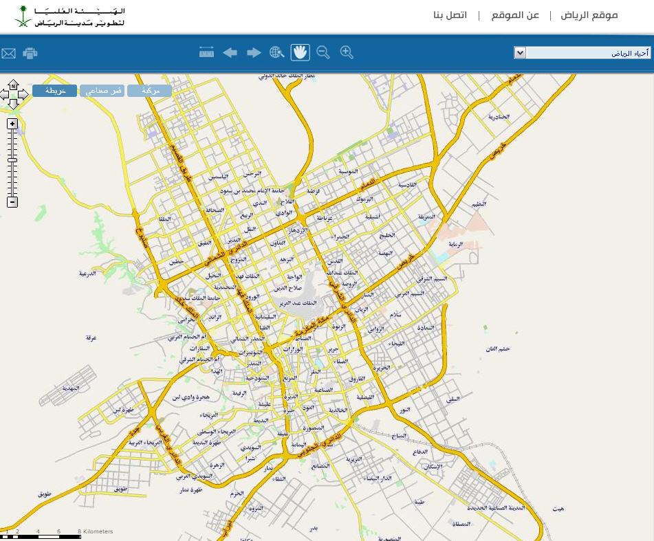 خريطة الرياض التفاعلية Kharita Blog